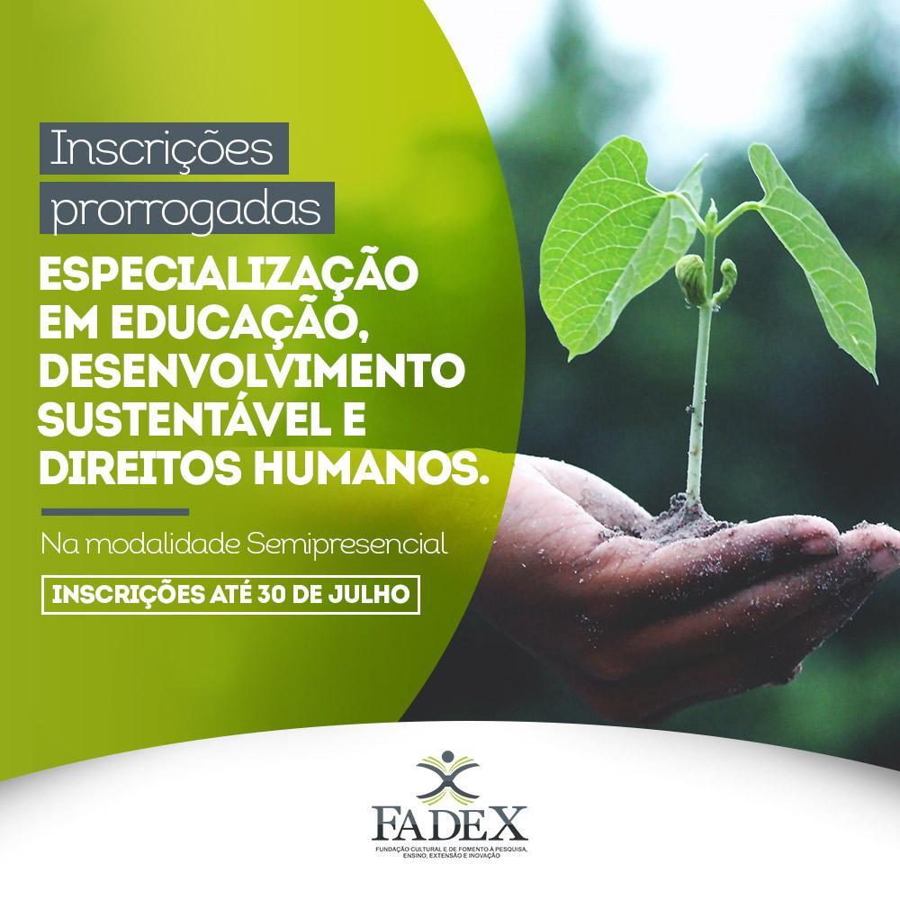 Especialização em Educação, Desenvolvimento Sustentável e Direitos Humanos abre inscrições até 30 de julho