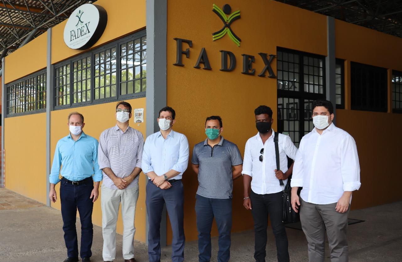 Corpo diretivo da Fadex recebe visita de executivos do Instituto Jovem Exportador e da FIEPI