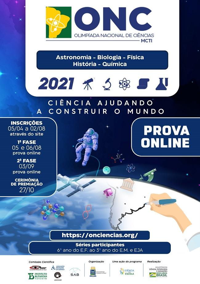 Inscrições para Olimpíada Nacional de Ciências se encerram nesta segunda-feira (2)